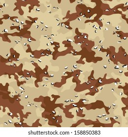 Desert Storm Camouflage Seamless Background Pattern