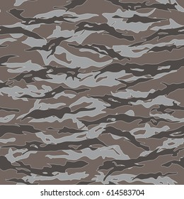 Desert Tiger stripe Camouflage seamless patterns. Vector Illustration.