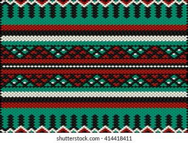 Desert Tribes Style Sadu Weaving Illustrated Background