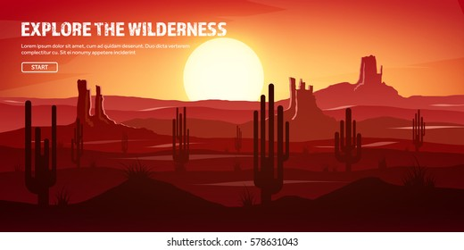 Desert trip. Extreme tourism and traveling. Back to nature. Sands.Exploring Africa. Horizon line with sky,stars. Mountains, flying birds.