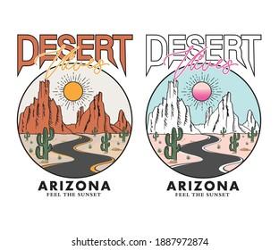 Desert vibes Arizona  t-shirt design