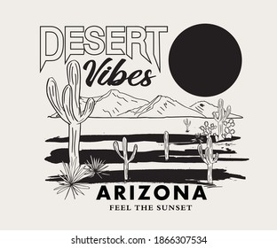 Desert Vibes Arizona vector Design