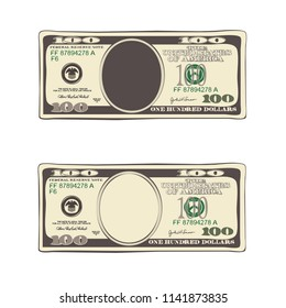 Design Of 100 Dollars Set Bill One Hundred Template Suitable For Discount