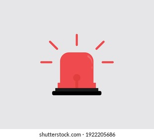 design about Flashing red siren icon illustration