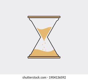 design about hourglass icon illustration