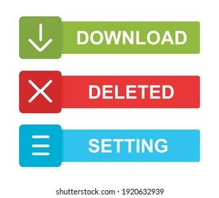 design about website button illustration