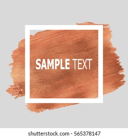 design abstract banner, flyers, leaflets, invitation strokes of paint gold and frame