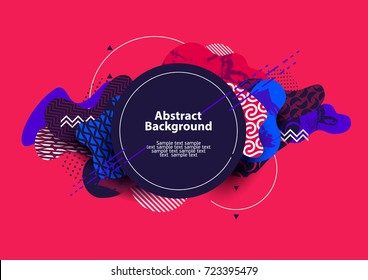 Design abstract geometric banner