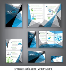 Design Abstract Vector Brochure Template. Flyer Layout, Flat Style, Infographic Elements in A3,A4,A5 size.
