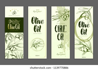 Design of advertising posters, postcards, labels for products from olives