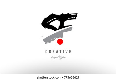 Design of alphabet grunge letter logo combination sf s f with black grey color for a company or business