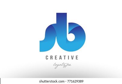 Design of alphabet letter logo combination sb s b with blue gradient color for a company or business
