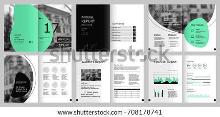 design annual report cover vector template stock vector royalty