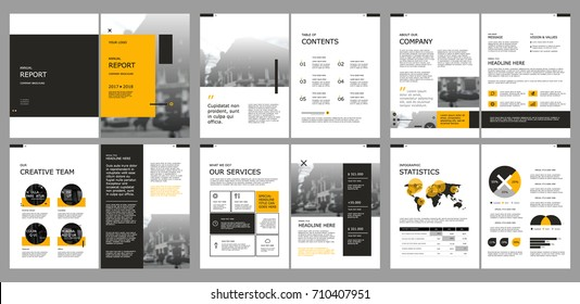 Design annual report,vector template brochures, flyers, presentations, leaflet, magazine a4 size. Geometric elements on a white background. Stock vector