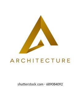 Design of architecture logo on white background. Isolated vector illustration.