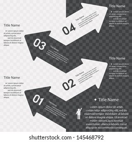 Design arrow banners template/graphic or website layout. Vector.