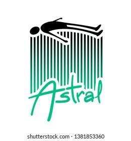 Design of astral projection illustration