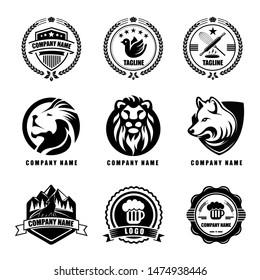 Design badges in retro style