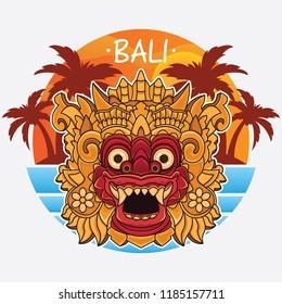 design bali island logo, vector EPS 10