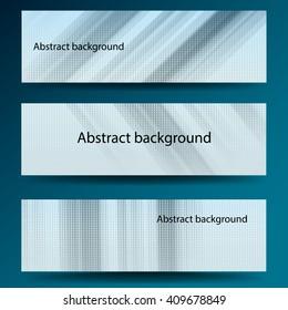 Design of banner, card, brochure and flaer. Set illustration - vector stock.