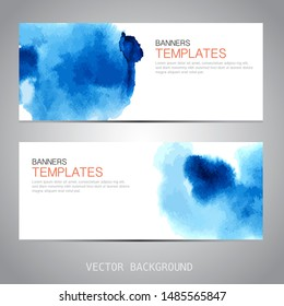 Design banner with Watercolor template. vector background
