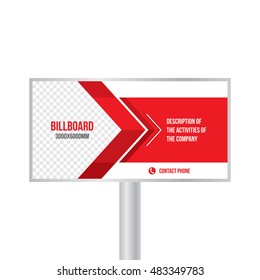 Design billboard template banner for photos and text