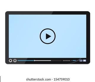 Design black media player. Vector illustration