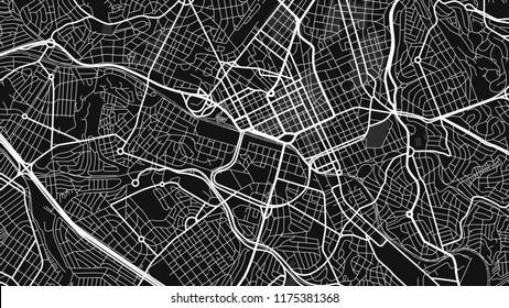 design black white map city campinas