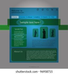 Design Blue Vector Web Site Template