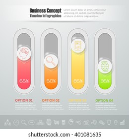 Design botton slide, Modern infographic template. vector illustration