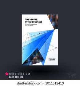 Design of brochure, abstract annual report, cover modern