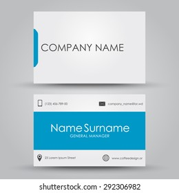 Design business card for the company or individual. Vector illustration. Set.