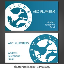 Plumber business card images stock photos vectors shutterstock design business cards for plumbing vector colourmoves