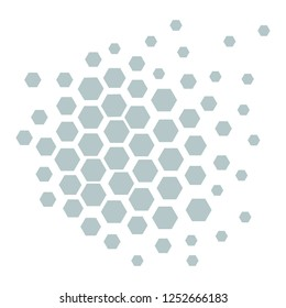 Design business Empty copy space text for Ad website promotion isolated Banner template. Geometric Shape Hexagon Honeycomb in Seamless Repeat Pattern Vector
