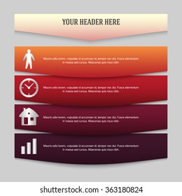 Design business presentation template. Vector illustration for technology infographics, number banners, charts and graphs or powerpoint background, graphs and tables. EPS 10