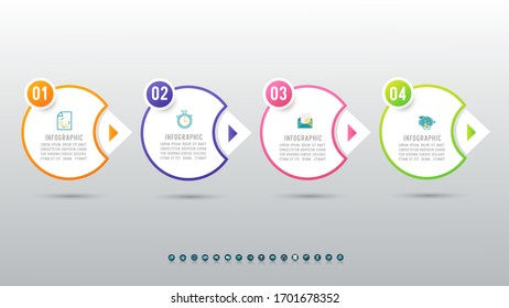 Design Business template infographic chart element with place date for presentations.