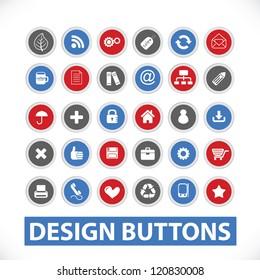 design buttons set, vector