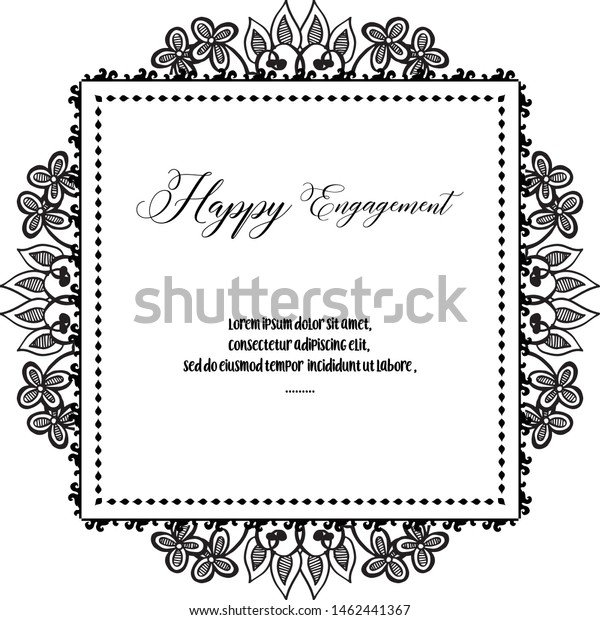 Design Card Happy Engagement Pattern Art Stock Vector (Royalty ...