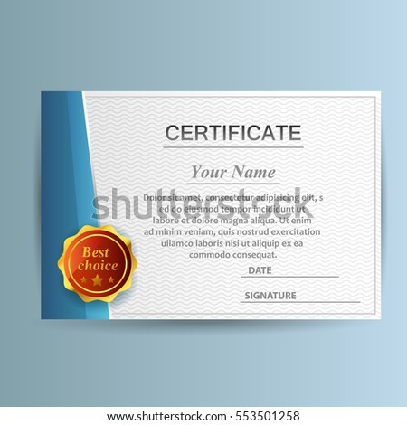 Design certificate template business education award stock vector design with certificate template business or education award vector illustration accmission Choice Image
