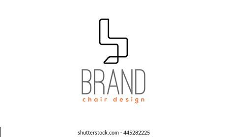 Design chair vector logo template.