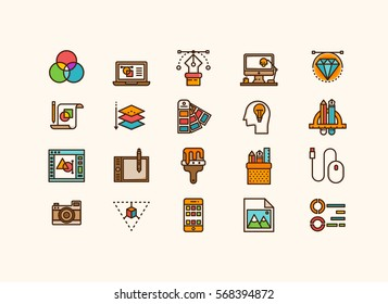 Design collection icons set