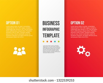 Design Of Colorful Company Infographic With Icons Vector