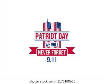 design to commemorate the patriot day