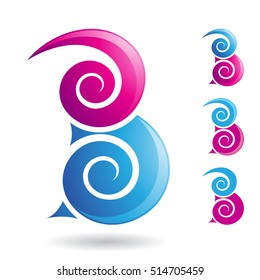 Design Concept of a Abstract Icon of Letter B, Vector Illustration