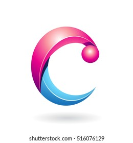 Design Concept of an Abstract Icon of Letter C, Vector Illustration