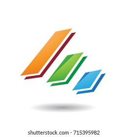 Design Concept of Colorful Diagonal Bars Icon, Vector Illustration Isolated on a White Background