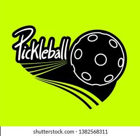 Design of cool pickleball sport icon