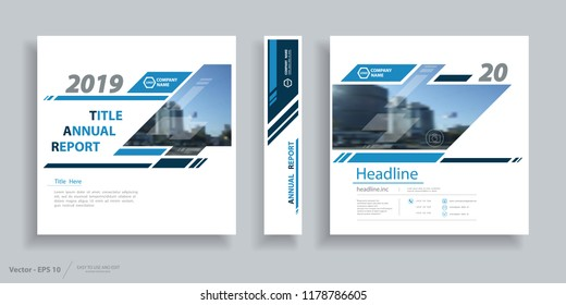 Design, cover business brochure, frame of information banner. Set, cover sheet, technical flyer mock, announcement. Modern, image, first page with the city street texture. Blue, white, vector icon