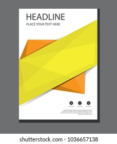 design cover poster a4 catalog. book brochure flyer layout. annual report business template