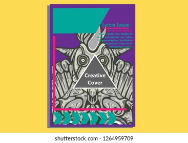 design creative display layouts with Tutan Mask models as basic images